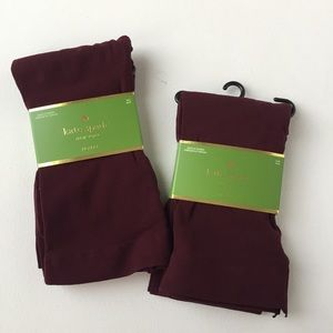 NWT Kate Spade Winter Midnight Wine Tights